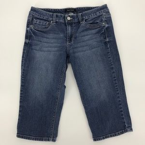 WHBM Blue Denim Pedal Pushers